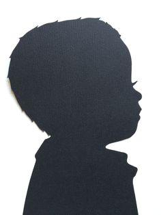 3 Hand Cut Custom Silhouette Portraits