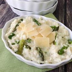 Slow Cooker Asparagus Risotto