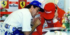 Fotos Ayrton Senna e Gerard Berger Damon Hill, James Hunt, Michael Schumacher, Grid Girls, Gp Formula, Gerhard Berger, F1 Drivers, Karting, Motogp