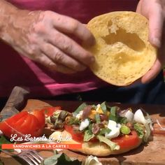 Specialite Nicoise, Pan Bagnat, Pain, Baked Potato, Sandwiches, Tacos, Ethnic Recipes, Food, Pastries