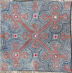 Yunnan Miao batik, China - not Japanese Motifs Textiles, Textile Fabrics, Textile Patterns, Textile Design, Fabric Design, Pattern Design, Print Patterns, Fabric Art, Textile Texture