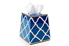 Tissue Box Cover, Madeline Navy on OneKingsLane.com