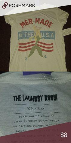Brand new tee shirt Size runs big, brand new white tee shirt The Laundry Room Tops Tees - Short Sleeve