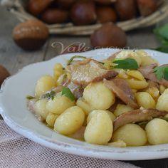 Gnocchi con porcini e castagne primo piatto facile e veloce