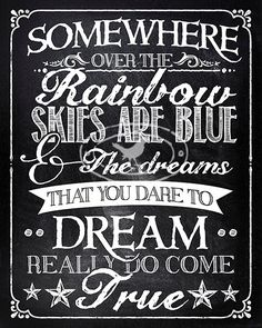 Somewhere over the Rainbow - my world is a fantasy world where possibility is reality