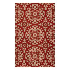 Segundo 8' x 10' Rug in Red (living room)