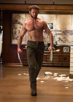 Hugh Jackman as Wolverine. Farewell we will miss the best wolverine ever. good luck.