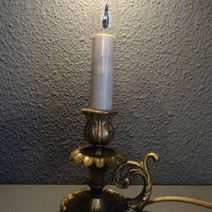 Rijk bewerkt bronzen lamp, blaker