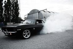 '69 Camaro in flat black