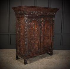 Profusely Carved Oak Cupboard - Antiques Atlas