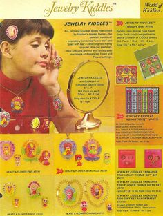 Add for the tiny Jewelry Kiddles, 1960s.