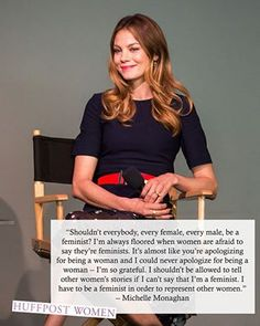 """Michelle Monaghan """"I could never apologize for being a woman - I'm so grateful."""""""