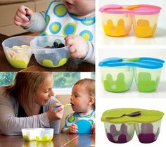 Snack Pack from b.box is a very convenient way to take your baby's food with you anywhere
