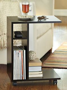 Everywhere End Table - Slim space-saving cart rolls where you need it and pulls up close | Solutions