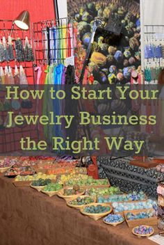 Every jewelry maker should know these 5 essential tips on how to start a jewelry business online or at home. #beading #smallbusiness #jewelrymaking