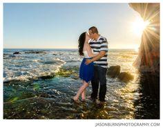 Beach Engagement session in Laguna Beach by Jason Burns Photography, Sunset Beach Shot
