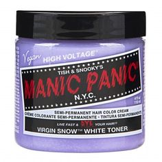 Virgin Snow™ (Toner)  - High Voltage® Classic Cream Formula Hair Color from Manic Panic | Find more cruelty-free beauty @Quirkist |
