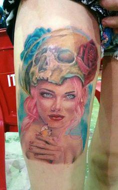 Tattoo premiada em 1°lugar melhor do evento na convenção de Eunápolis BA/ Brasil by insanotattoo indio