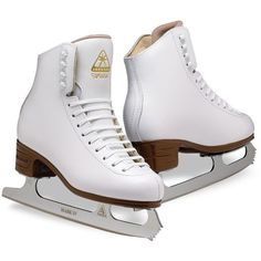 Jackson Artiste Ice Skates JS1790 Womens White Figure Ice Skates ($150) ❤ liked on Polyvore featuring shoes, sports, other, accessories and skates