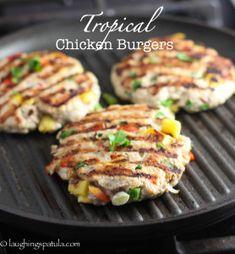 Tropiske kylling burgere