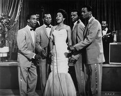 The Platters in the film Rock All Night (1957)