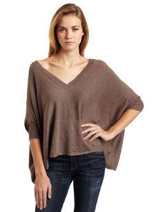 Bobi Women's Deep V-Neck Sweater with Center Front Pocket  Broome  SmallFrom #Bobi List Price: $96.80Price: $51.44