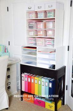 Craft and school supply storage