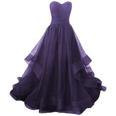 D.W.U Pleated Tulle Simple Quinceanera Gowns Sweet 15 Long Party Prom... ($29) ❤ liked on Polyvore featuring dresses, prom homecoming dresses, long prom dresses, long tulle dress, tulle homecoming dress and purple homecoming dresses