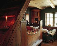 Старинный скандинавский интерьер   Своя изба