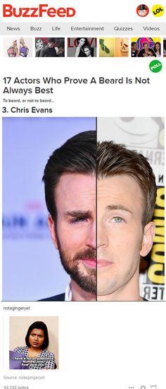 I love the beard...