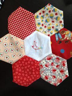 hexagon quilt wip