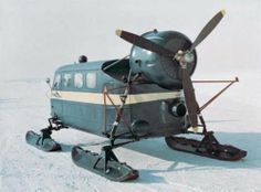 Vintage snow shuttle. Now this looks like a good time. Buckle up, folks.