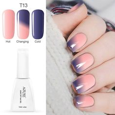 12ml/pcs LED Chameleon Gel UV Color Temperature Change Gel Nail Polish