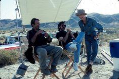 Sam Neill, Steven Spielberg & Laura Dern behind the scenes on #JurassicPark (1993).