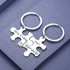 Say I Love You: 24 Best Gifts for Your Boyfriend that He'll Love, His and Her Couple Keychain Set. Christmas Gifts for Boyfriend Teens. Top 5 Christmas Gifts, Christmas Gifts For Boyfriend, Gifts For Your Boyfriend, Boyfriend Girlfriend, Christmas Jewelry, Surprise Boyfriend, Boyfriend Ideas, Christmas Christmas, Gifts For Teens