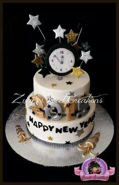 New year cake New Year Cake Decoration, New Year Cake Designs, Fireworks Cake, Birthday Cakes For Teens, Free Birthday, Birthday Bash, Birthday Celebration, New Year's Cake, Chocolate Sugar Cookies