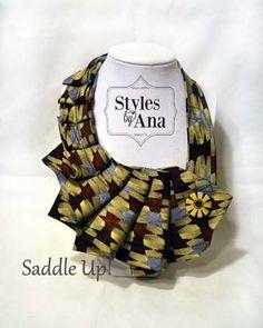 Statement Necklace Collar Button Scarf Necktie by stylesbyana