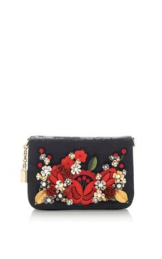 Carnation Embroidered Jacquard Mini Bag by Dolce