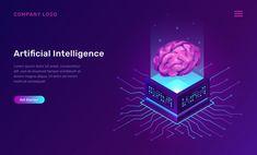 Artificial intelligence or ai isometric concept , Futuristic Technology, Futuristic Design, Digital Technology, Human Nervous System, Big Data Visualization, Big Data Technologies, Mesh Networking, Line Background, Isometric Design