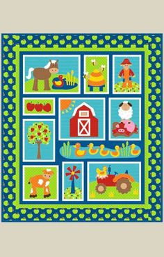 On the Farm - by Kids Quilts - Patchwork & Quilting Pattern - cot or crib quilt pattern