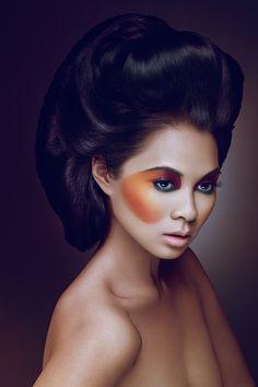 Beauty & hair by Alex , via Behance