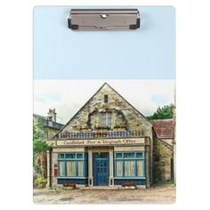 """Candleford Post Office Clipboards From the television series """"Larkrise to candleford"""" Excellent for note-taking and organizing important papers, these  ultra-sturdy acrylic clipboards will keep you on track and in style. Dimensions:  12.5""""l x 9""""w ."""