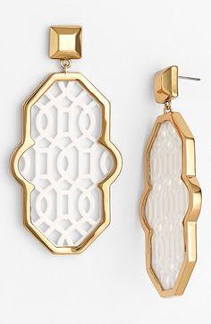 Lattice earrings by Tory Burch http://rstyle.me/n/pjj76n2bn