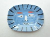 Dollhouse Miniature plate Picasso reproduction - blue faun