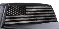 Truck Rear Window Decal Black & White Distressed American Flag Vinyl Wrap | eBay