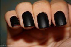 Matte black nails girly cute nails girl nail polish nail pretty girls pretty nails nail art matte black nails