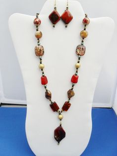 Ruby OOAK red dichroic Artisan floral acrylic gold by ElmsRealm, $26.00