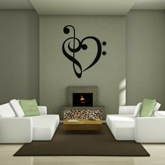 Music Wall Stickers | Music of the heart - Music - Wall Decals