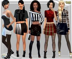 Dreaming 4 Sims: Uneven skirt • Sims 4 Downloads