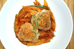 Roasted Chicken with Braised Fennel